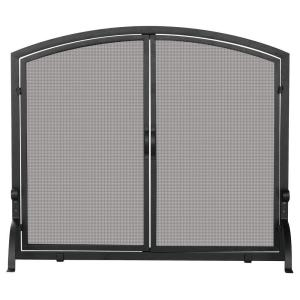 UniFlame Curved Bronze Single-Panel Fireplace Screen-S-1667 - The ...
