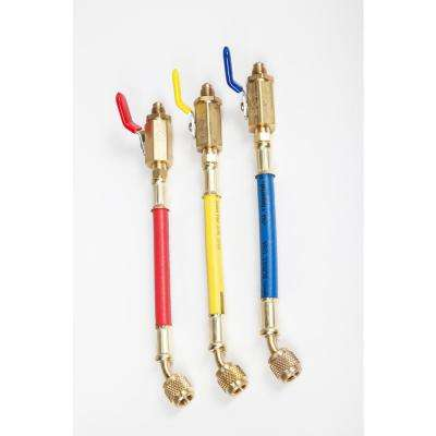 1/4 in. Refrigerant Hose Ball Valve Set (3-Piece)