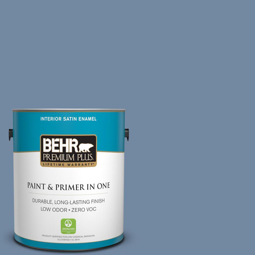 1 gal. #PPU15-09 Hilo Bay Zero VOC Satin Enamel Interior Paint