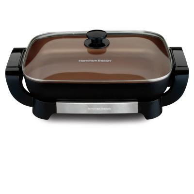 Durathon Ceramic 180 in. Black Electric Skillet with Removable Pan