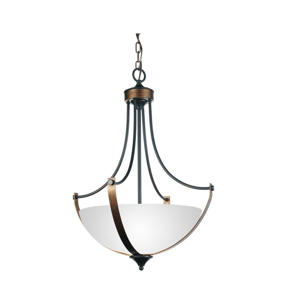 cwi lighting solis 3 light brushed golden brown chandelier 9820p19 4