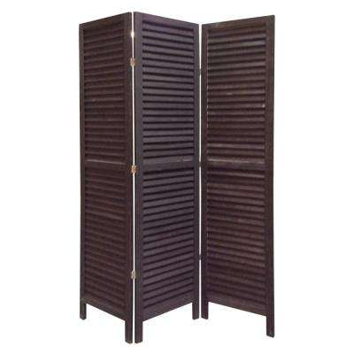 SHUTTER 5.5 ft. BLACK 3-Panel Room Divider