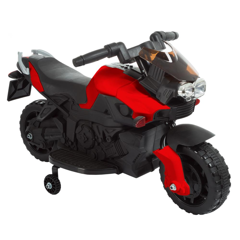 8895ff46b3e Lil Rider 2-Wheel Red Battery Powered Motorcycle Ride on Toy-M410014 ...