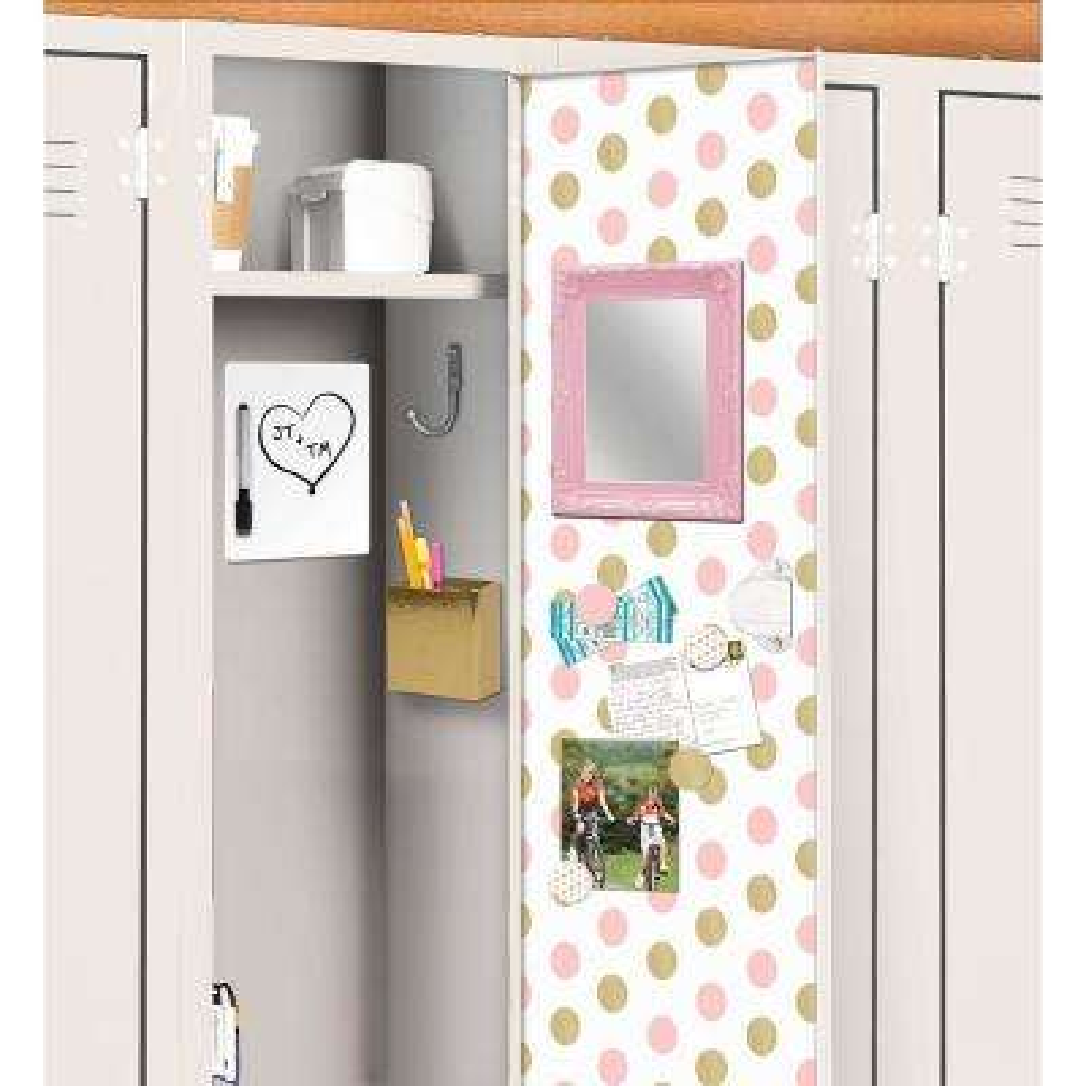 Pink Confetti Dot Locker Decal Kit