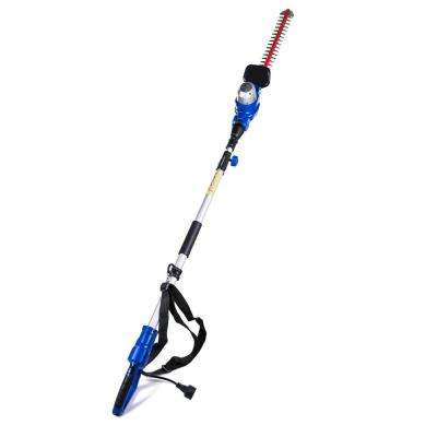 20 in. 4.6 Amp Electric Pole Hedge Trimmer with Laser Cut Blade Technology