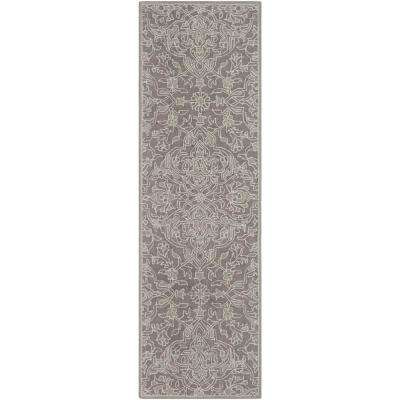Tsurui Medium Gray 3 ft. x 8 ft. Runner Rug