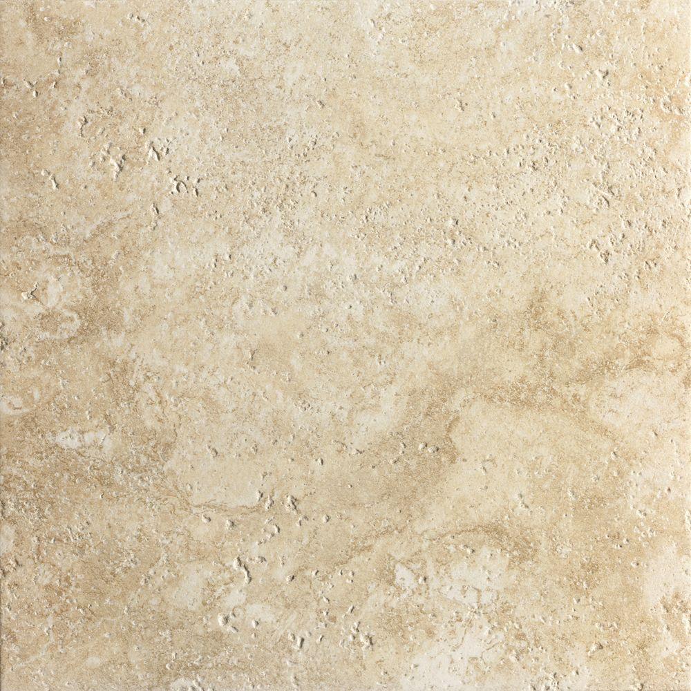Marazzi artea stone 20 in x 20 in avorio porcelain floor for 16 inch floor tile