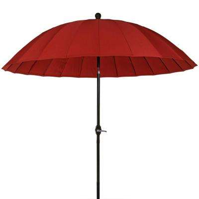 8 ft. Shanghai Aluminum Market Tilt Patio Umbrella in Burnt Orange with Crank