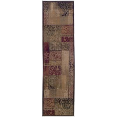 New Country Beige Sage 3 ft. x 9 ft. Runner Rug