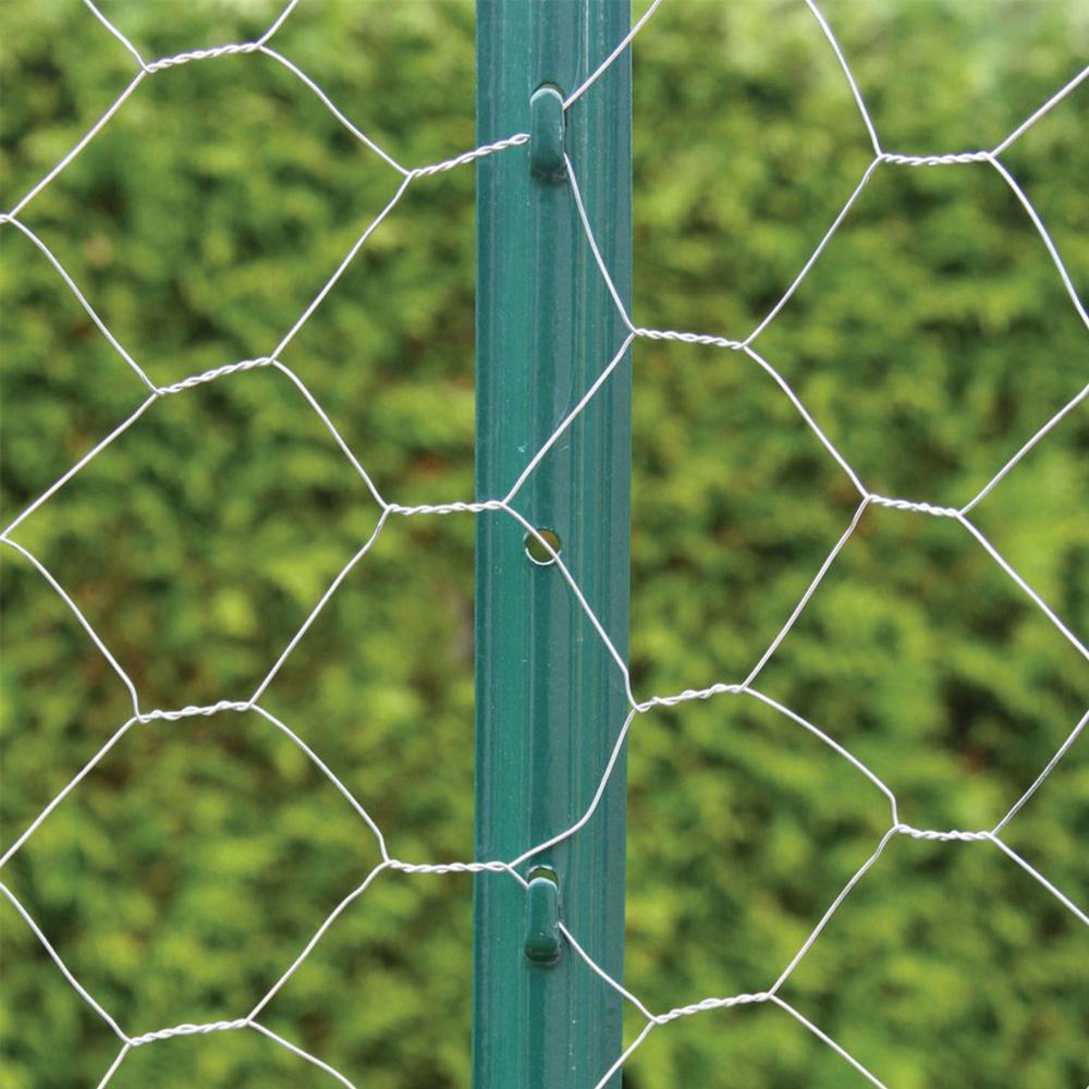 Everbilt 2 1 4 In X 2 1 2 In X 4 Ft Green Steel Fence U Post