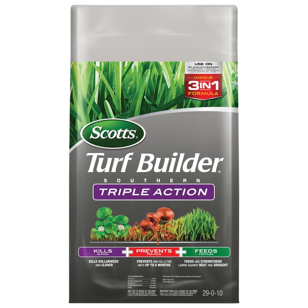 Scotts Turf Builder 26.84 lb. 8,000 sq. ft. Triple Action Southern Lawn Fertilizer