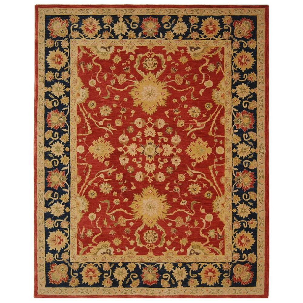 Safavieh Anatolia Red Navy 10 Ft X 14 Ft Area Rug An517a