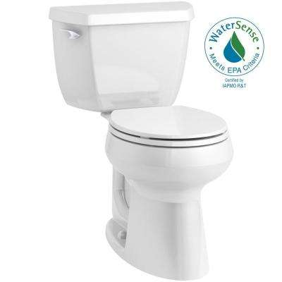 Highline Classic Complete Solution 2-piece 1.28 GPF Single Flush Comfort Height Round-Front Toilet in White