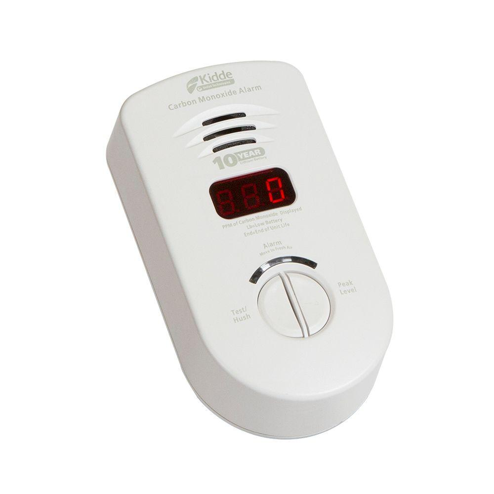 Kidde 10-Year Worry Free Plug-In Carbon Monoxide Detector with Battery Backup and Digital Display