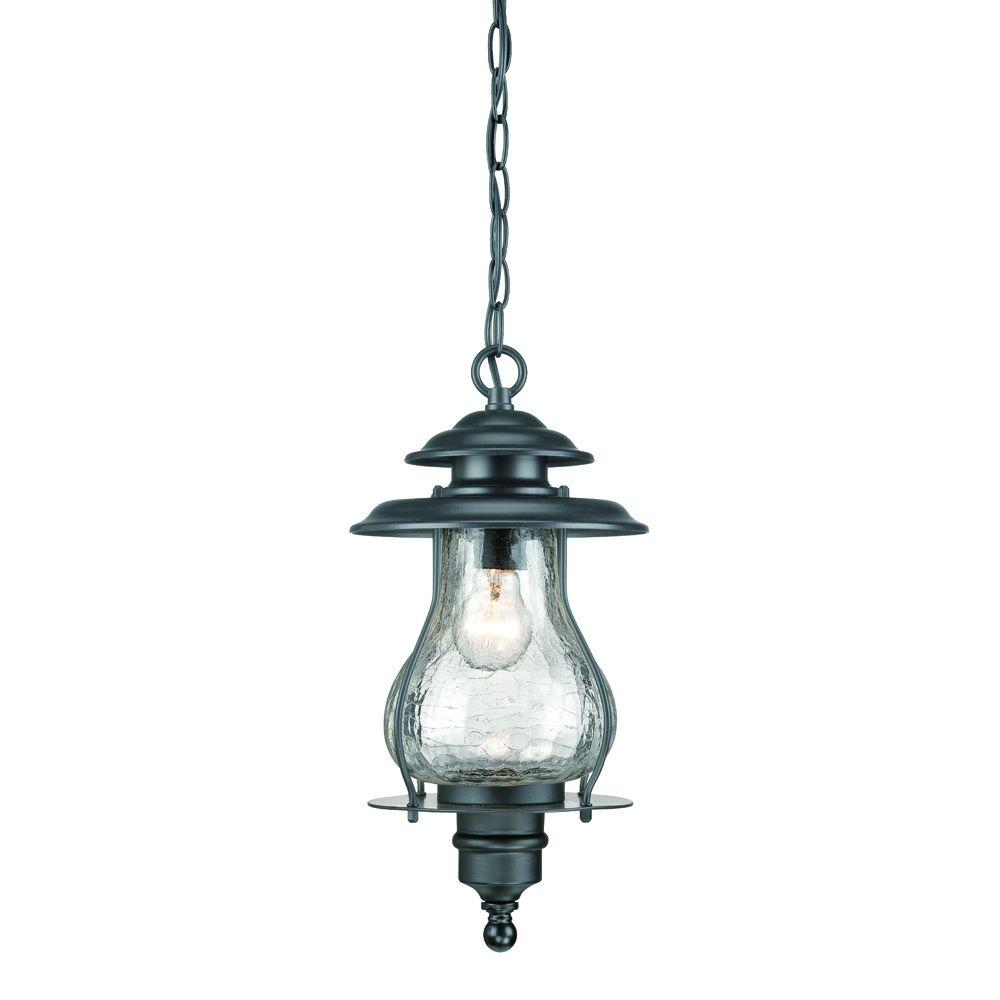 Acclaim lighting laurens 1 light matte black outdoor for Hanging outdoor light fixtures