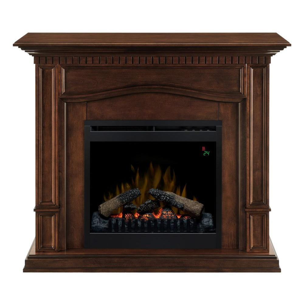 Dimplex Theodore 42 in. Convertible Compact Electric Fireplace in Mocha