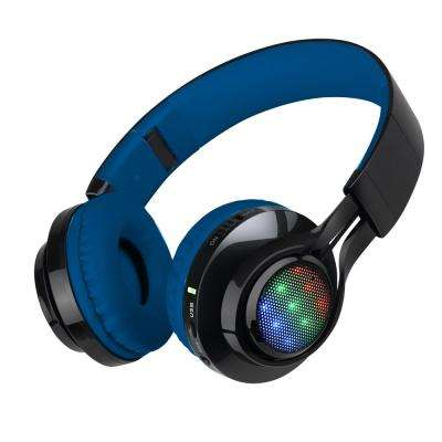 Bluetooth Wireless Foldable Headphones with Mic and Remote Control, Blue