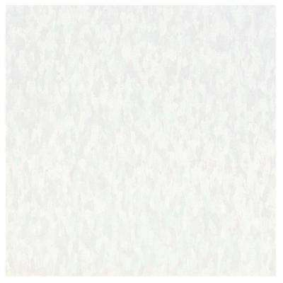 Take Home Sample - Imperial Texture VCT White Out Commercial Vinyl Tile - 6 in. x 6 in.