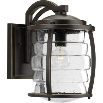 Signal Bay Collection 1-Light Oil Rubbed Bronze 14.75 in. Outdoor Wall Lantern Sconce