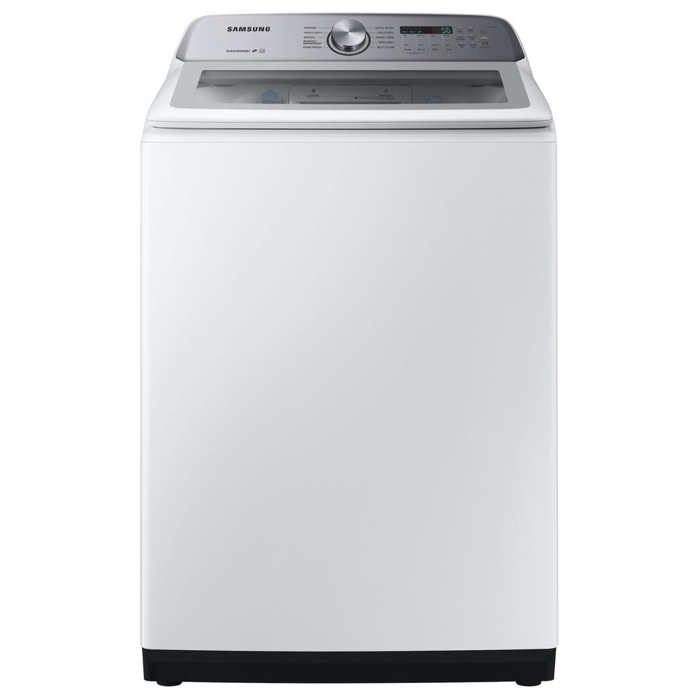 Samsung 5.0 cu. ft. Hi-Efficiency White Top Load Washing Machine with Active Water Jet, ENERGY STAR