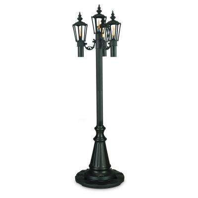 85 in. Islander Citronella Four Flame Outdoor Black Park Style Post Lantern
