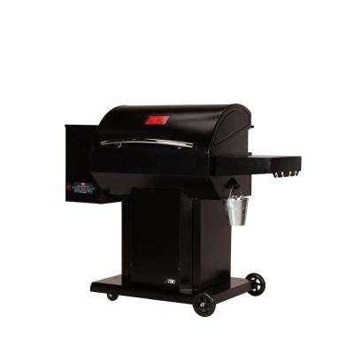 The Cumberland Wood Pellet Grill and Smoker in Black with Searing Grate