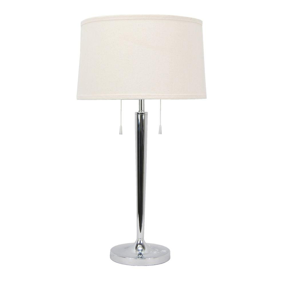 Ulysses Chrome Table Lamp: Fangio Lighting 28.5 In. Chic Zhenni Chrome Metal Table