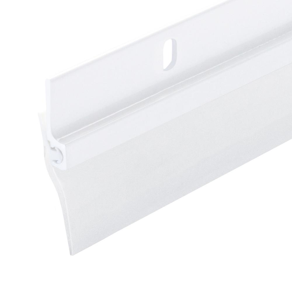 M D Building Products 1 1 4 In X 36 In Single Fin Aluminum And Vinyl Door Sweep 05215 The Home Depot