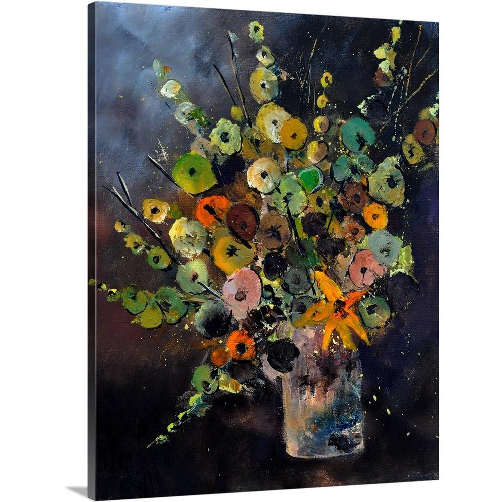 Greatbigcanvas Bunch Of Flowers 451180 By Pol Ledent Canvas Wall