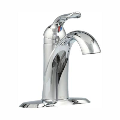 Lahara Single Hole Single-Handle Bathroom Faucet with Metal Drain Assembly in Chrome