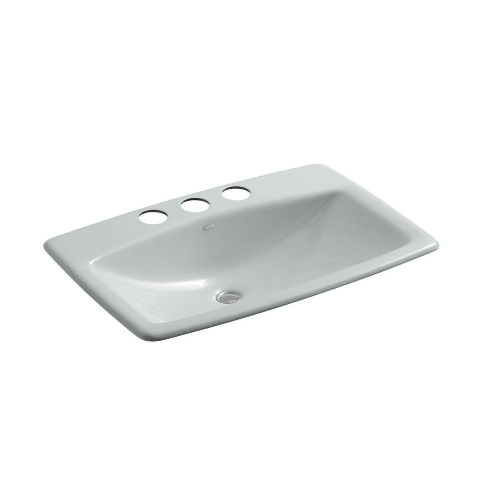 KOHLER Man's Lav Undermount Bathroom Sink Sink in Ice Grey-DISCONTINUED