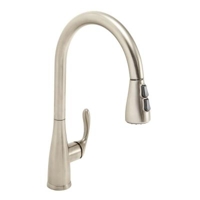 Chelsea Single-Handle Pull-Down Sprayer Kitchen Faucet in Brushed Nickel