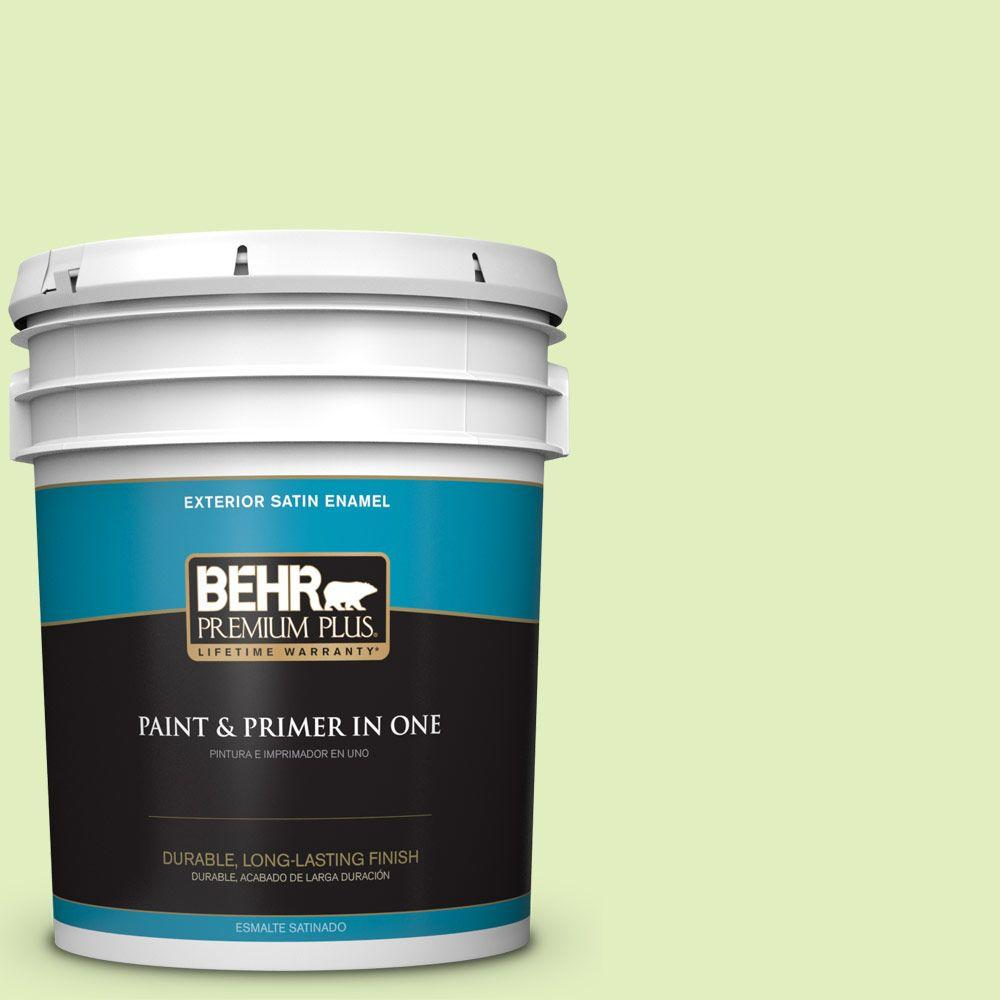 BEHR Premium Plus 5-gal. #420A-2 Spirit Whisper Satin Enamel Exterior Paint
