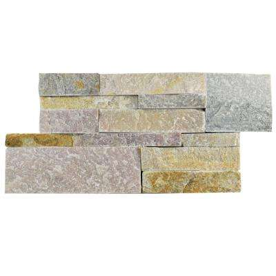 Ledger Panel Honey 7 in. x 13-1/2 in. Natural Quartzite Wall Tile (6 cases / 31.5 sq. ft. / pallet)