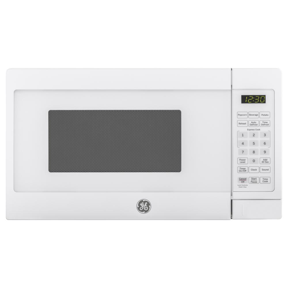 Small Countertop Microwave In White