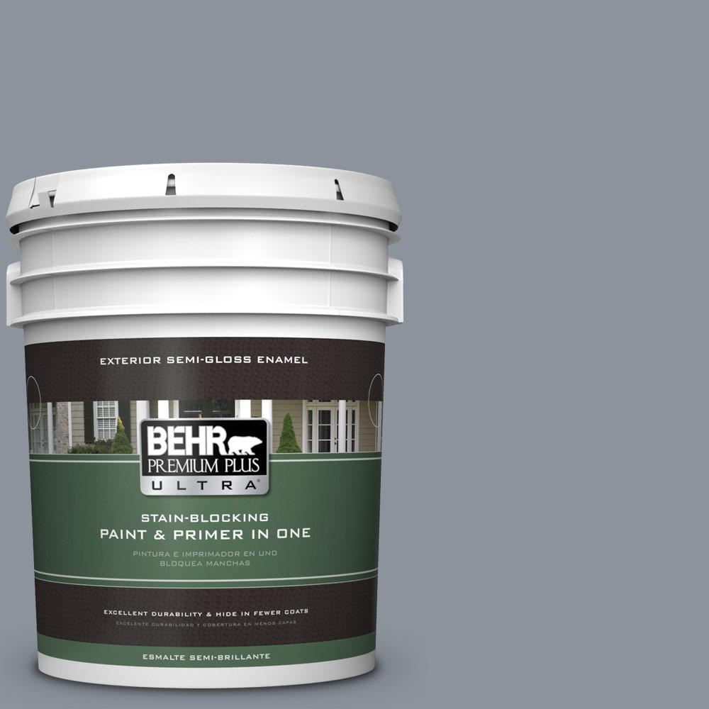 5 gal. #HDC-AC-26A Lilac Fields Semi-Gloss Enamel Exterior Paint