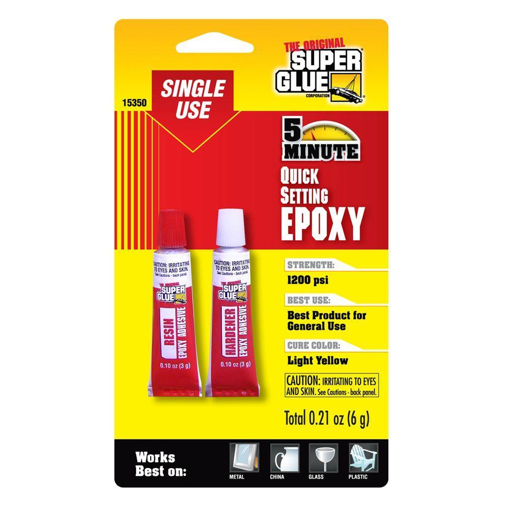 Super Glue 021 oz Quick Setting Single Use Epoxy 12