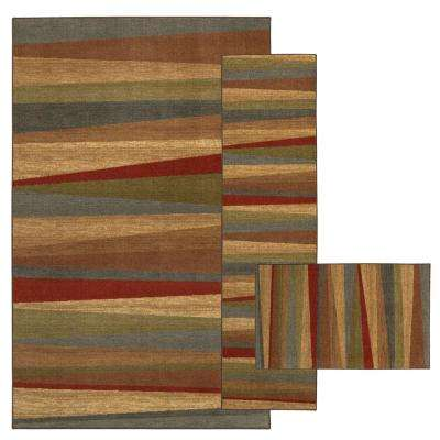 Mayan Sunset Sierra 7 ft. 6 in. x 10 ft. 3-Piece Indoor Rug Set