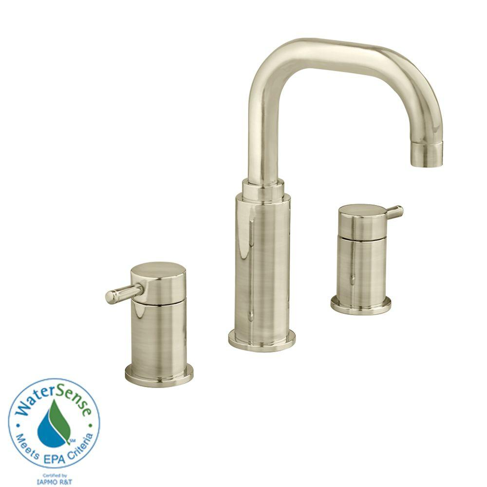 Serin 8 in. Widespread 2-Handle High-Arc Bathroom Faucet in Brushed Nickel