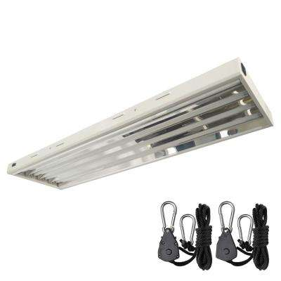 4 ft. 216-Watt T5 High Output 4-Bulb Fluorescent Grow Light Fixture