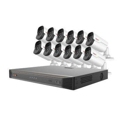 Ultra HD Audio Capable 16-Channel 5MP 4TB NVR Surveillance System with 12 Indoor/Outdoor Cameras