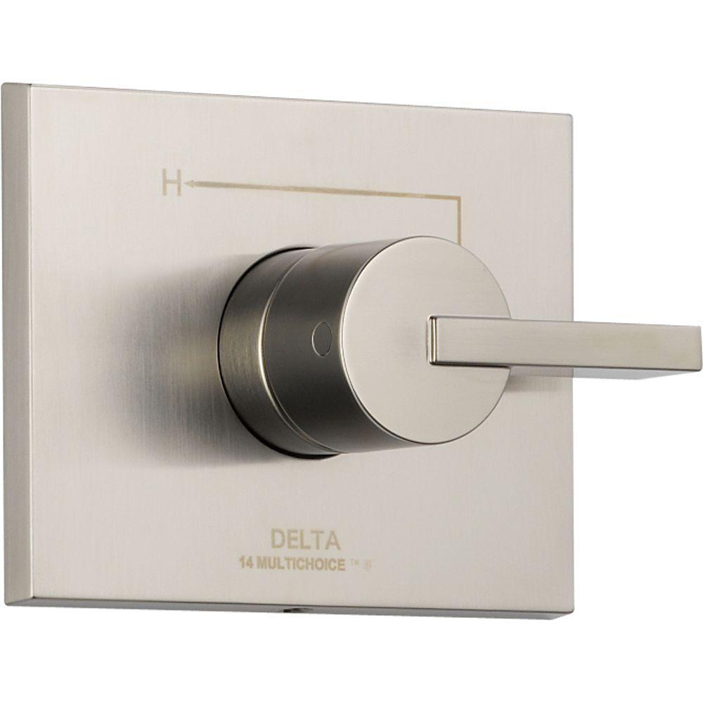 Delta Vero Monitor 14 Series 1-Handle Temperature Control Valve Trim ...
