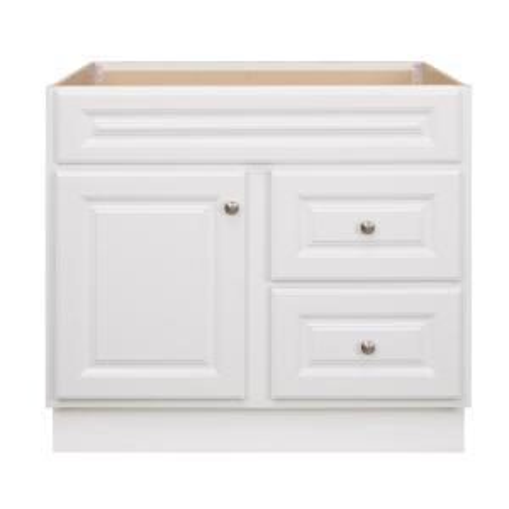 Hampton 36 in. W x 21 in. D x 33.5 in. H Bathroom Vanity Cabinet Only in White