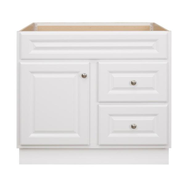 Hampton 36 in. W x 21 in. D x 33.5 in. H Bathroom Vanity Cabinet Only in White