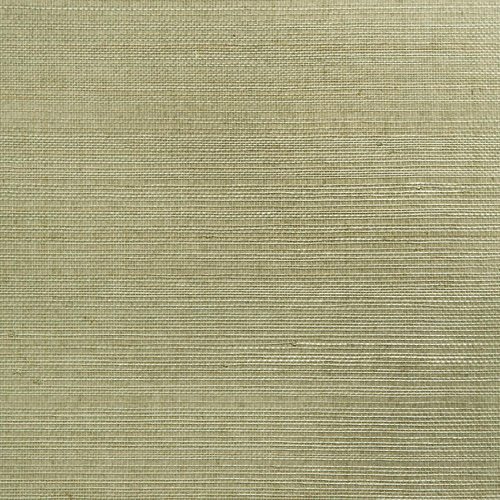 Modern Wallpaper Sage Green Metallic Faux Grasscloth: York Wallcoverings Grasscloth Wallpaper-OL5555