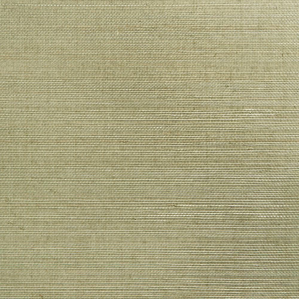 Grasscloth Wallpaper Samples: Kenneth James Mutei Sage Grasscloth Wallpaper Sample-2693