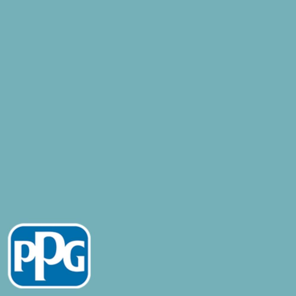 PPG TIMELESS 8 oz. #HDPPGB34D Dark Westwind Blue Satin Interior/Exterior Paint Sample