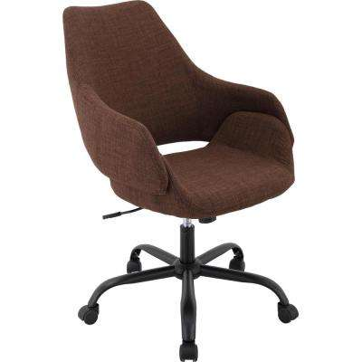Everson 17.75 in. to 20.75 in. Gas Lift Chocolate Wheeled Office Chair