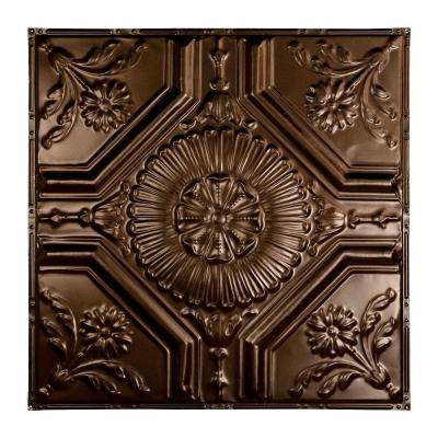 Rochester 2 ft. x 2 ft. Nail-up Tin Ceiling Tile in Bronze Burst