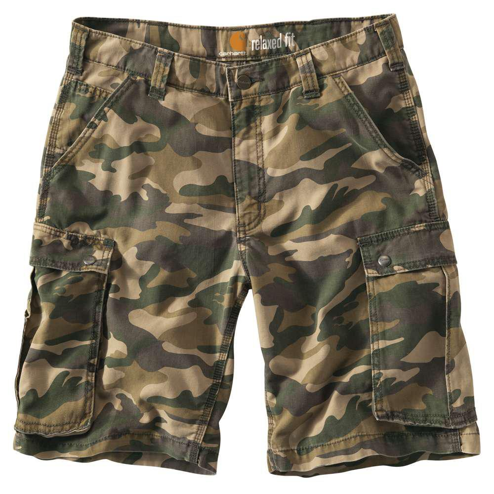 3e5cc1d354 Carhartt Men's Regular 30 Rugged Khaki Camo Cotton Shorts-100279-294 ...